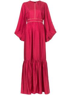 длинное плиссированное платье  Roksanda
