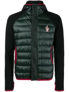 флисовая стеганая куртка с капюшоном Moncler Grenoble