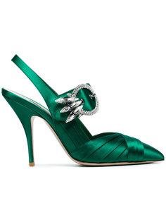 туфли-лодочки с открытой пяткой Miu Miu
