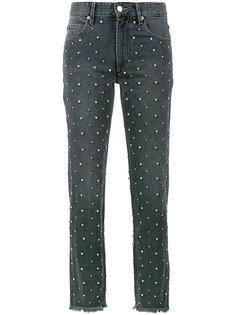 прямые джинсы с отделкой кристаллами Swarovski  Isabel Marant