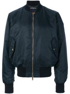 куртка-бомбер  с вышивкой Balenciaga