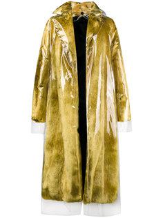 пальто из искусственного меха со съемной прозрачной накидкой Calvin Klein 205W39nyc