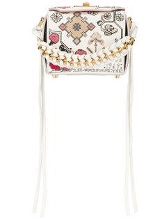 квадратная декорированная мини-сумка на плечо 16 Alexander McQueen