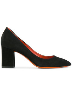 замшевые туфли-лодочки Santoni