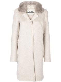 пальто с меховой отделкой Herno