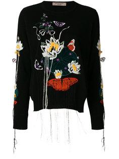 платье-свитер с вышивкой Piccione.Piccione