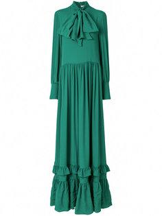 платье-макси с рюшами на подоле Piccione.Piccione