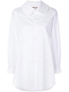 удлиненная рубашка с закругленным воротником Comme Des Garçons