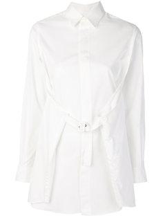 поплиновая рубашка с пряжкой  Comme Des Garçons Noir Kei Ninomiya