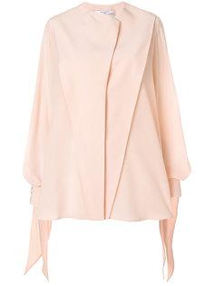 асимметричная блузка с отделкой на рукавах  Givenchy