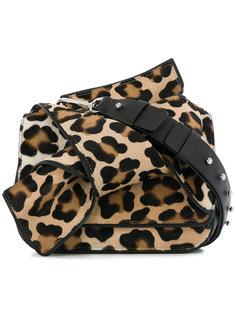 леопардовая сумка на плечо с бантом Nº21