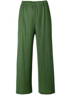 брюки клеш со складками  Pleats Please By Issey Miyake