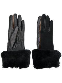 перчатки с меховой оторочкой Gala