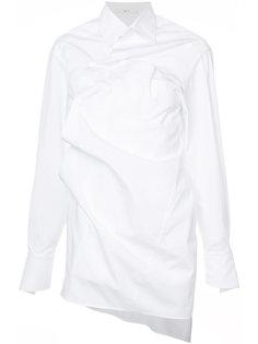 рубашка с перекрученным дизайном Aganovich