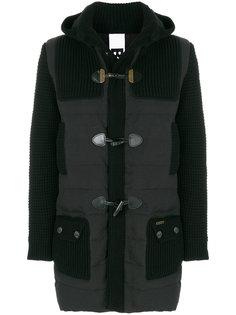 стеганое пальто с трикотажными панелями Bark