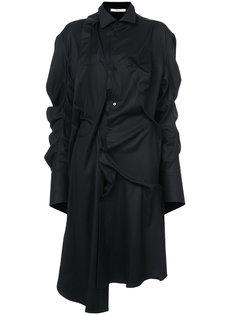 платье-рубашка с присборенными деталями Aganovich