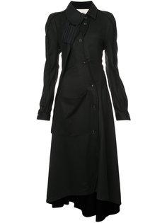 длинное платье-рубашка Aganovich