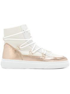 ботинки с эффектом металлик Hogan