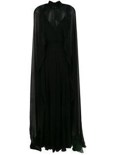 полупрозрачное платье-кейп  Alberta Ferretti