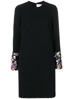 платье шифт с пайетками Victoria Victoria Beckham