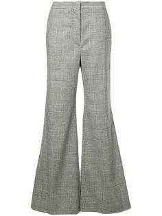 твидовые брюки с каскадными оборками Sara Battaglia
