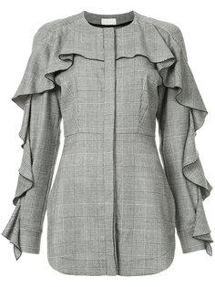 твидовая рубашка с оборками Sara Battaglia