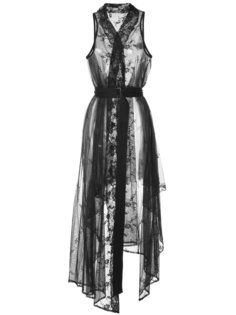 кружевное платье с запахом и поясом Ann Demeulemeester