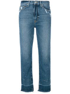 джинсы с эффектом потертости Hudson