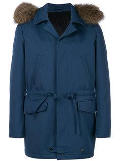 куртка с капюшоном  и меховой оторочкой Gabriele Pasini