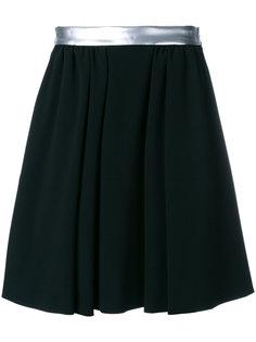 плиссированная юбка с полоской сбоку Moschino