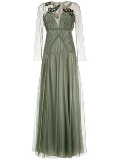 декорированное платье из тюля со сборками Antonio Marras