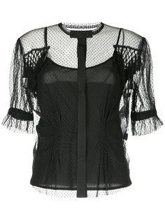 прозрачная блузка в точечку Antonio Marras
