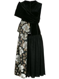 расклешенное платье с цветочными панелями Antonio Marras