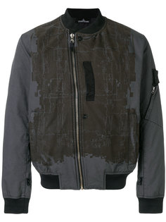 куртка-бомбер  с контрастными панелями David-TC Stone Island Shadow Project