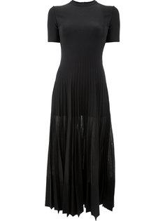плиссированное платье миди Alexander McQueen