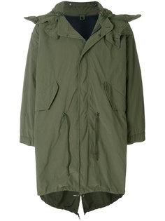 пальто с капюшоном в стиле милитари Aspesi