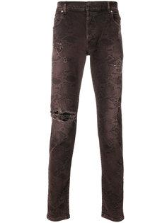 джинсы с принтом кожи питона Balmain