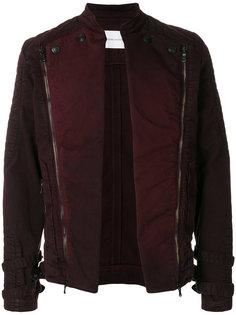 стеганая байкерская куртка с открытым передом Pierre Balmain