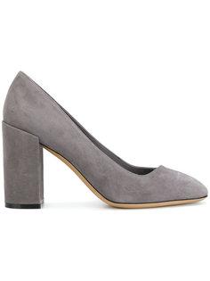 туфли-лодочки на наборном каблуке Salvatore Ferragamo