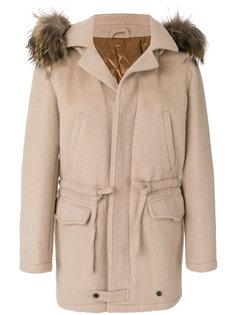 пальто с элатсичным поясом Gabriele Pasini