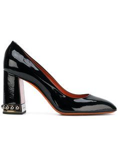 туфли с заклепками на каблуке Santoni