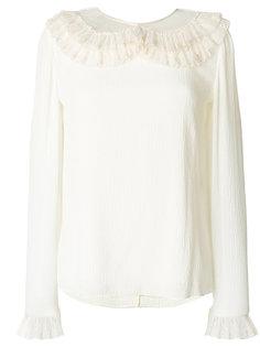 блузка с оборкой на воротнике  Chloé