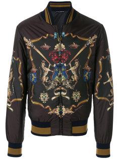куртка-бомбер с симметричным принтом Dolce & Gabbana