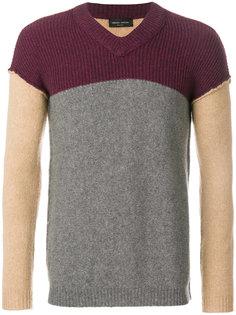 свитер дизайна колор-блок Roberto Collina