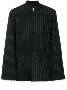 рубашка с высоким воротником в тонкую полоску  Takahiromiyashita The Soloist