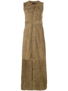 длинное платье-рубашка с V-образным вырезом  Diesel Black Gold