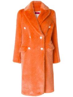 двубортное пальто из искусственного меха The Gigi