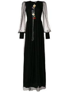 платье макси с вышивкой  Piccione.Piccione
