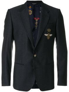 пиджак с аппликацией в виде пчелы Dolce & Gabbana