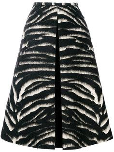 юбка миди с меховой отделкой Rochas